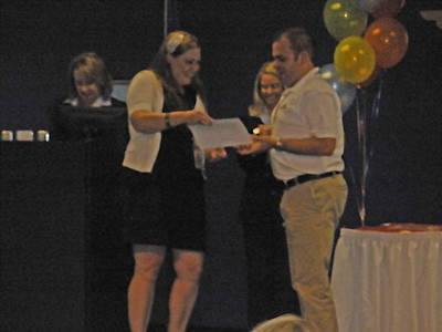 Josh receives certificate and wings