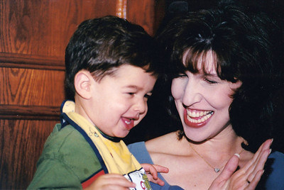 """Josh Berenzweig with Rachel Libman Berenzweig at the 40th anniversary party of Rachel's parents, Gerry & Elaine Libman. Rockville, MD June 1999  Scanned from 4x6"""" print in 2019."""