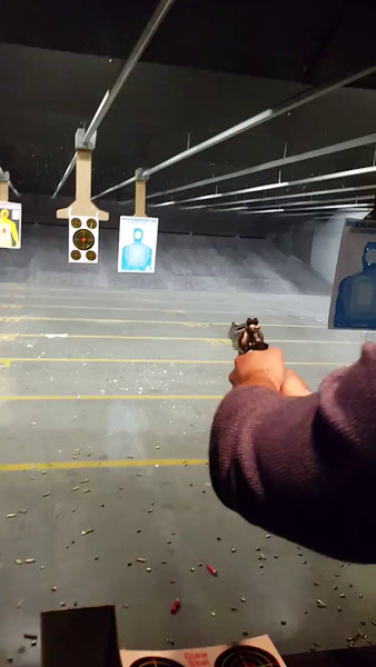 """Josh Shooting a S&W 44 Magnum Revolver with 3"""" barrel and hot loads for the first time"""
