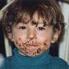 Wearing his cake. 1995