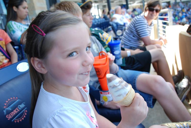 Emma likes her ice cream.