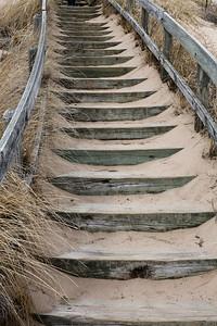 Dune walk stairs, New Buffalo, Michigan.