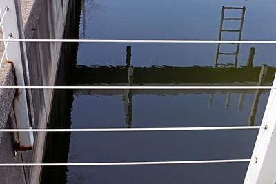 Marina reflection, New Buffalo, Michigan.