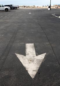 New Buffalo beach parking lot.