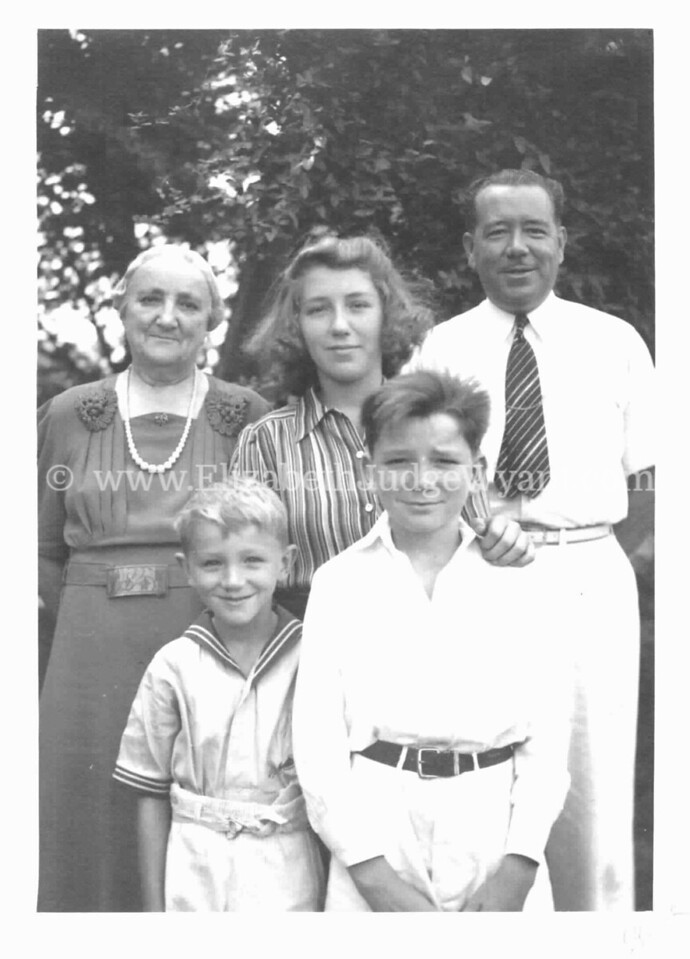 Joseph Judge II, wife Beatrice Estelle Hewlett, Children: Patricia, Joseph III, Robert