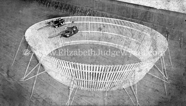 Joseph William Judge I and Riverside Wheelmen on a practice ring