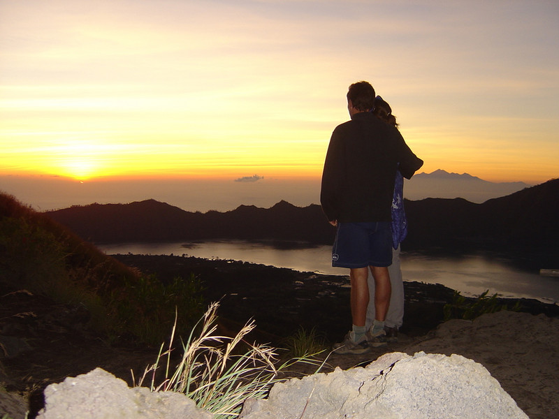 sunrise from mt Batur (volcano)