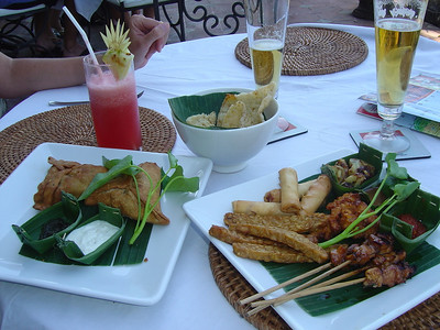 splash-out lunch at Indus Restaurant, near Ubud