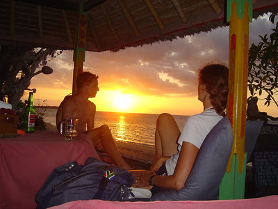 sunset and sundowners, Gili Air