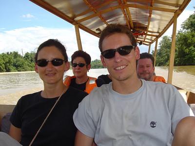 river boat to Taman Negara (jungle) National Park, Malaysia