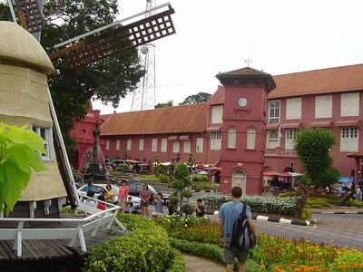 Melaka town centre with it's Dutch influence