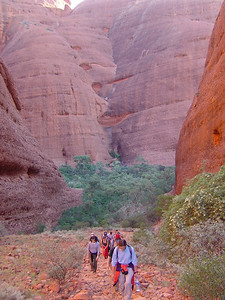 hike around/through the Olgas (Kata Tjuta), near Uluru. This area called the valley of the winds