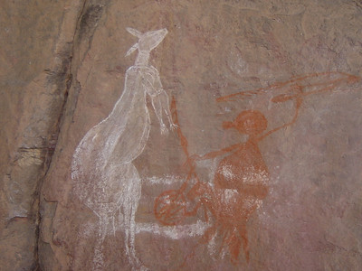 Aboriginal art work at Ubirr