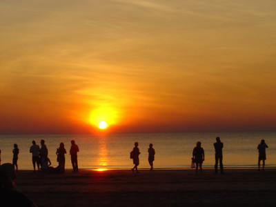 Sunset over Mindil Beach, Darwin, Australia