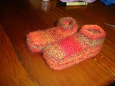 stripey slippers