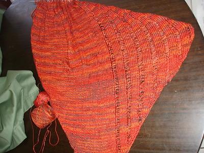 clapotis scarf in progress