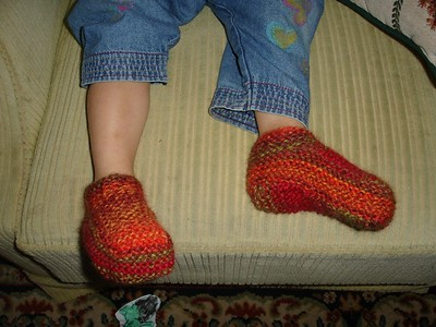 Kathryn's woolie slippers