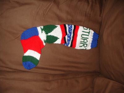 Stuart's christmas stocking