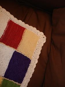 crochet border closeup