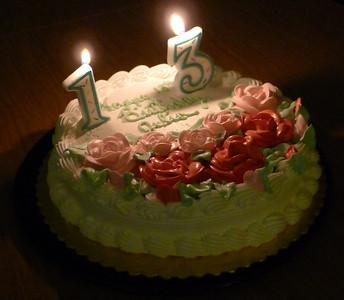Julia's 13th birthday