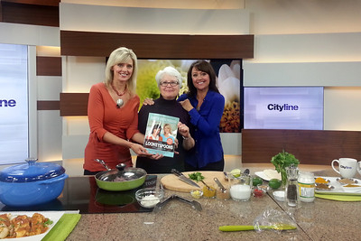 Julie with the Looneyspoon Sisters at City TV