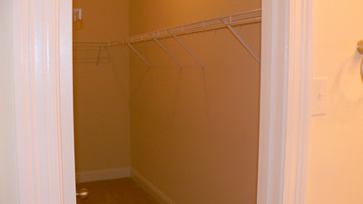 The master closet that I can sleep in :) Mine all mine.