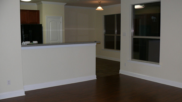 This is the kitchen, with a bar. We will need to get barstools.