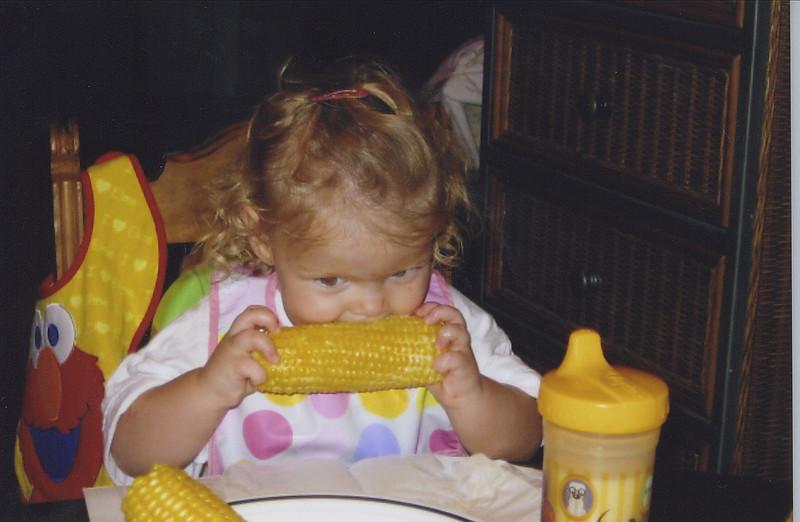 Eating corn on the cob...yum yum!
