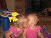 Giving kisses