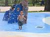 Michael at this cool kiddie spray waterpark
