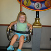 Claire's turn...she thought this ride was so FUN!!