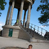 Michael at the pagoda at the top of Parc des Buttes Chaumont
