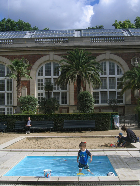 Michael at the Luxembourg Garden splash pools