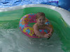 Madeline hanging out in the pool