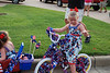 Camden ready to ride her bike in the parade.
