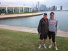 Justin and Sarah on Chicago lakefront before running the Big 10 10K