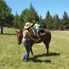Norah and the instructor, Sara, wrapping up Horse Camp.  Thanks, Silver Horse Ranch, for a wonderful week!
