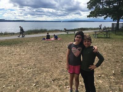 2 buddies at Colman Pool, West Seattle