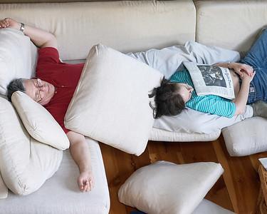 Jeff Karen sleeping
