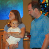 Jenny, Bryan, Chris Lisek, Bryan's baptism using water from the River Jordon, Faith Presbyterian Church, Seminole, FL. 6/17/2012