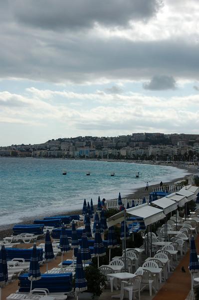 Those clouds welcomed us to Nice.  EEK.