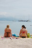 Sunbathers at Antibes.  I don't think they ever went topless.