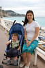 Mother and son on Promenade des Anglais