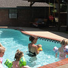 Camden and a few friends are taking swimming lessons.