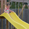 Claire's turn to slide.