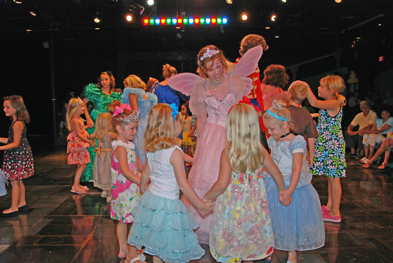 Hallie and her friends meeting the Fairy Godmother