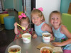 Enjoying some frozen yogurt