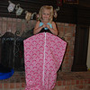 Aunt T made Hallie a cute hanging bag for her recital costume.