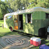 """Very cool old trailer from the 1940s.  A Westcraft """"Coronado"""", 1946 model, beautifully restored by the owner."""