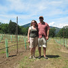 A brief stop to visit Cathedral Rock Winery (formerly known as Flershinger Winery) where Matt & I were married 16 years ago.  We're standing amidst newly planted Pinot Noir grapes.  Should be ready for production in 5-years.
